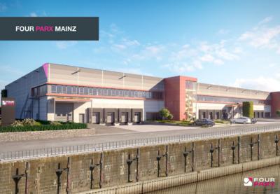 Neubau FOUR PARX Gewerbe- und Logistikimmobilie in Mainz